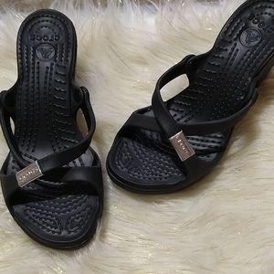 Crocs women size 7 - black